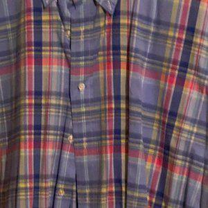 Multi-Color Short Sleeve button down Ralph Lauren